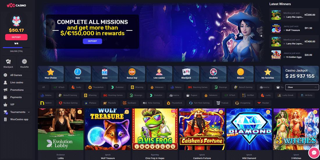 woo casino review