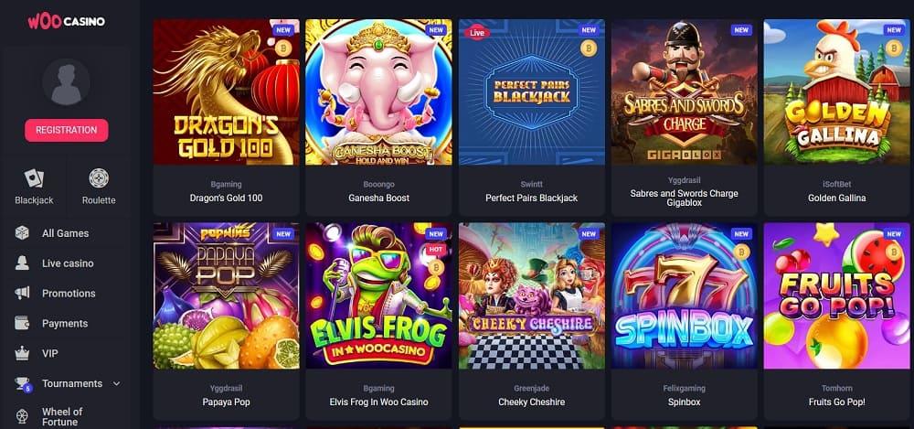 woo casino slots