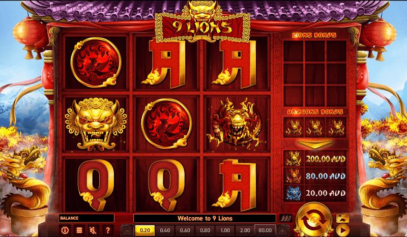 9 lions pokies game