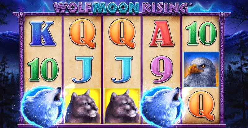 wolf moon rising pokies