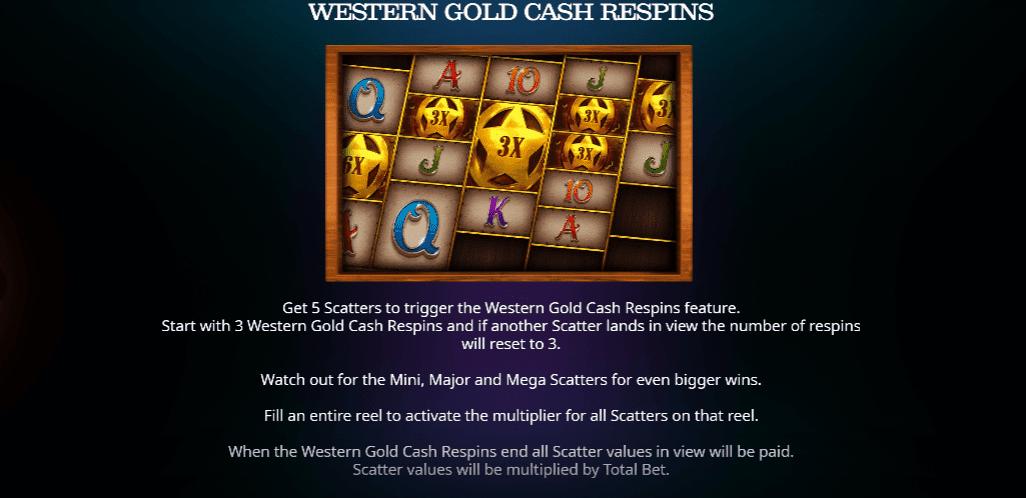 western gold cash respins