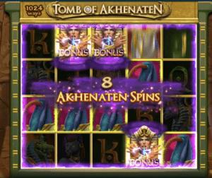 tomb of akhenaten free spins