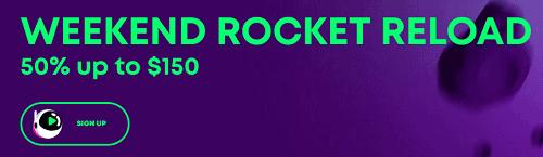 casino rocket reload bonus